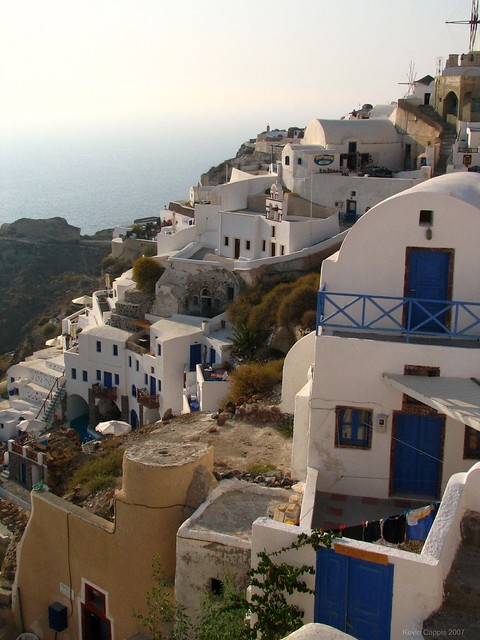 Village of Oia, on the Greek island of Santorini, Greece