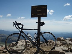 Bike at Summit (richcaccavale) Tags: cycling mtevans