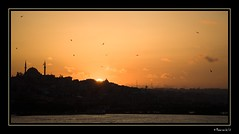Sunset view from Galata Bridge, Istanbul...