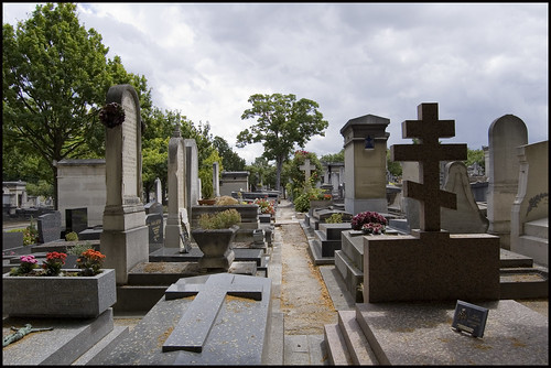 graves at Montparnasse cemetery, Paris