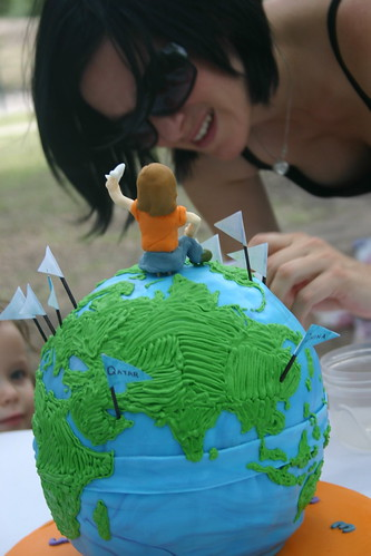 my earth ball cake