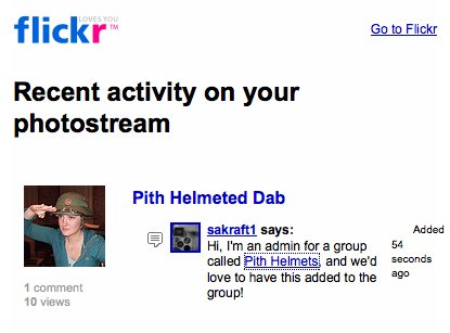There is a Flickr group for everything.
