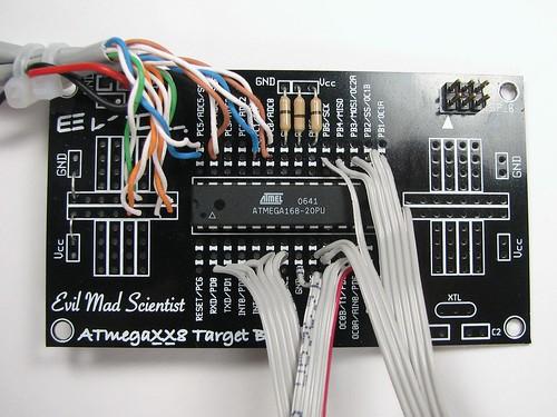 ATmega168 on card