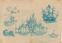 Fantasyland Centerfold Sketch, 1955