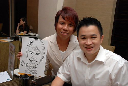 caricature live sketching for wedding dinner 120708  - 57