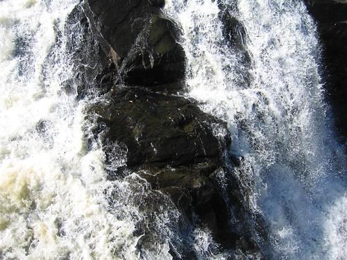 Wet rocks in the falls