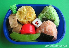 Italian sausage bento lunch for preschooler