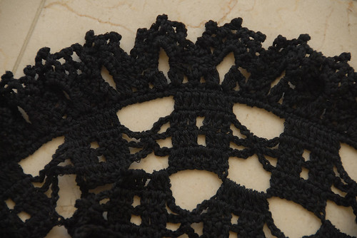 Long Lacy Vest Ruffle Closeup
