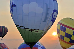 Balloon #3 - Solsberg, NJ (Silver2Silicon) Tags: sunset prime colorful dusk flame hotairballoon float manualfocus inflate primelenses d700 planar1485zf