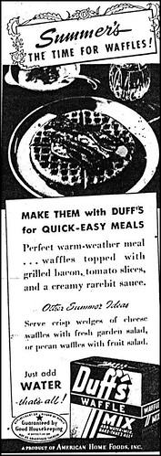 LHJ 1946 ads Duff's Waffles