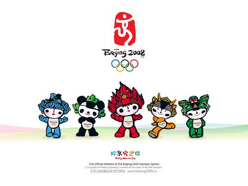 Mascotas de Olimpiadas en Beijing