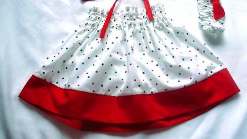Flowers & Polka Dots Skirt for Girls