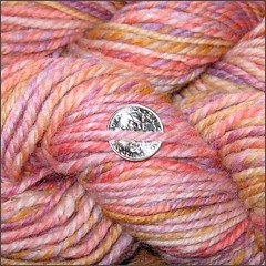 Apricot Orchid yarn, close up