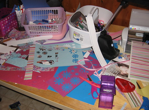 messy craft area