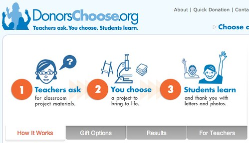 DonorsChoose.org: Teachers Ask. You Choose. Students Learn.