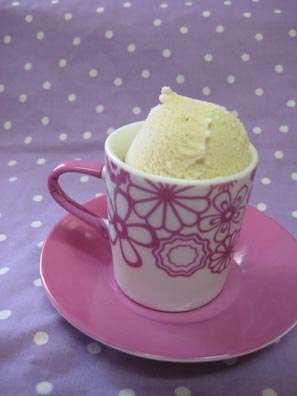 Homemade Honey Lavender Ice Cream