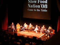 Slow Food Nation: Food for Thought (chiffonade) Tags: sanfrancisco foodforthought wendellberry vandanashiva ericschlosser alicewaters corbykummer michaelpollan carlopetrini slowfoodnation sfn08