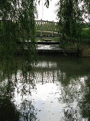 bridge and willows (venetia 27) Tags: bridge reflections river walk exploring shade oxford fields ripples willows newplaces squigglylines soclosetothecitycentre