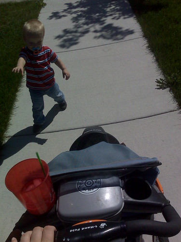 he wont ride in the stroller