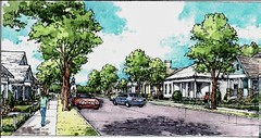 Leander's Old Town will be enhanced and integrated into the plan (by: Gateway Planning Group)