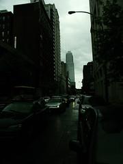 my Rain, Montreal ([GW] GrafikWar) Tags: street cloud green rain dark montreal drummondstreeet