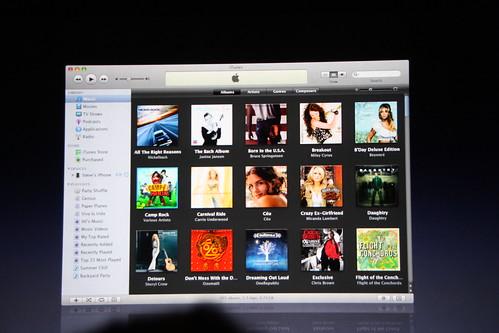 interfaz de iTunes 8