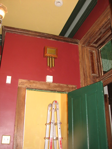 painting the coat closet