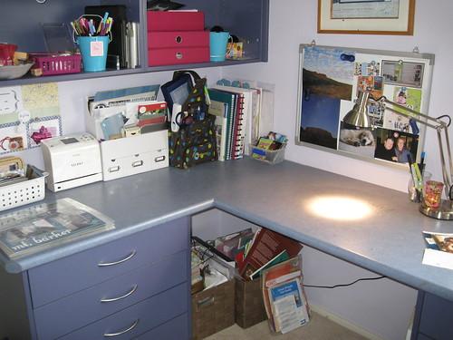 Clean scrapbook desk