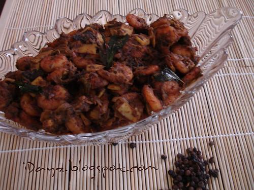 Nadan Chemmen Varattiyathu / Kerala Prawns Roast