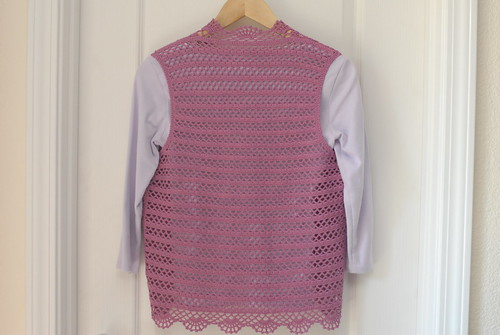 Purple Crochet Bolero Vest