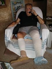 Herbie on the phone (My Little Photo Album/Michael Wayne Cole) Tags: family phone miami aunt herbie bandages diabetes