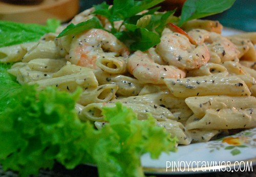 Shrimp cream pesto pasta recipe Recipe pasta pesto potatoes green ...