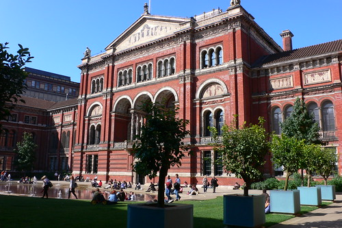 Courtyard at the V & A museum