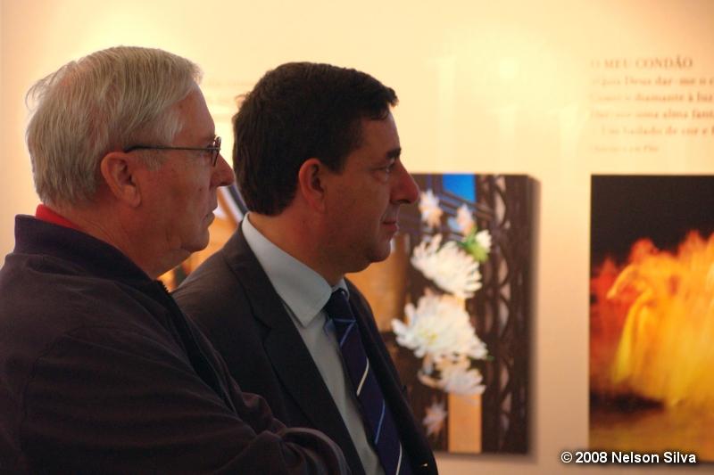 Gaspar de Jesus com o presidente da C.M.Matosinhos Guilherme Pinto