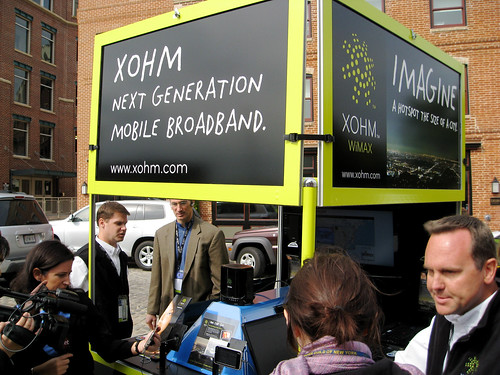 Xohm Booth at WiMAX Baltimore par Somewhat Frank