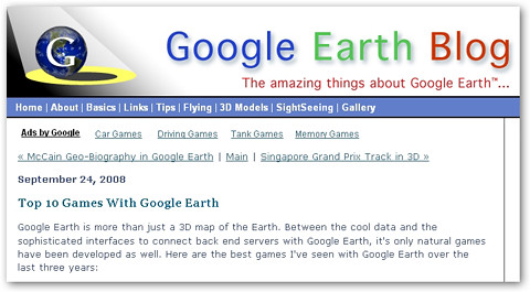 Google Earth Blog