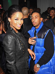 ciara & ludacris at a festical