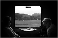 Timeless Travel (I Am Martin!) Tags: people blackandwhite white black mountains cold travelling station clouds train austria see am europe candid horizon everyday zellamsee 2008 interrail zell themostbeautifulplaceintheworld blackwhitephotos 18thjune2008