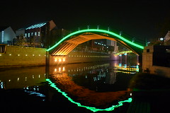 Bridge at Night in Suzhou, China.