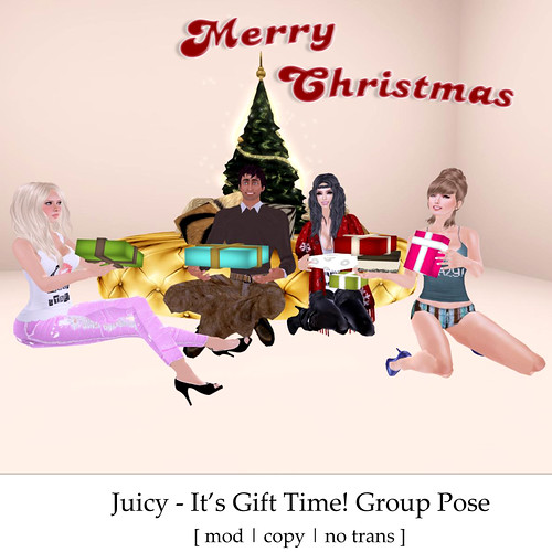 It's Gift Time! Free Juicy Group Pose by you.