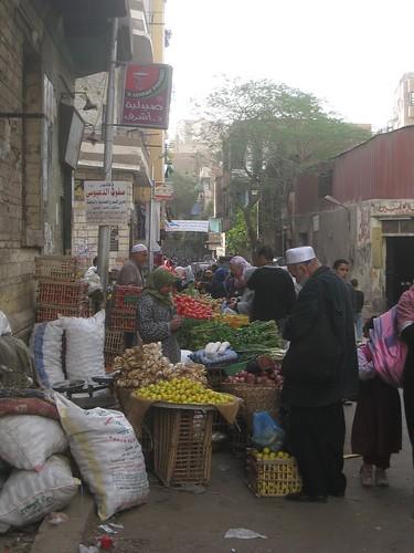 Fruit market area of Islamic Cairo