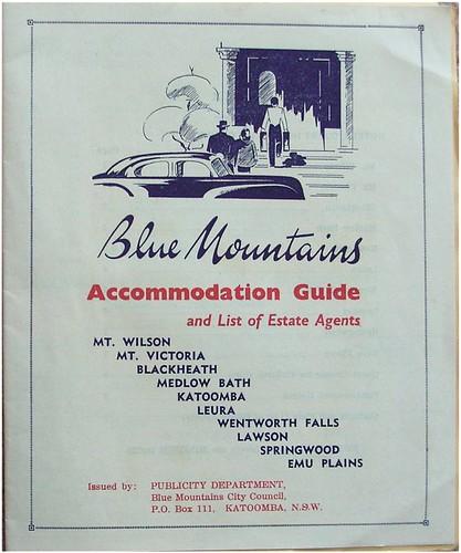 Katoomba accommodation 1940s