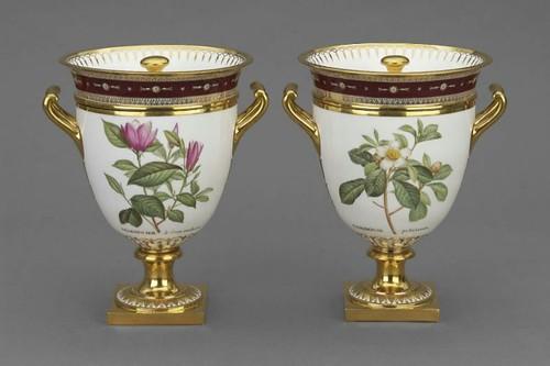 015  Par de copas para enfriar helado - servicio en la Malmaison- Sèvres Francia-1803-04-Porcelana con esmalte dorado y decoración-© 2009 Museum of Fine Arts, Boston