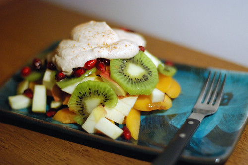 Fruit Medley with Almond Cashew Whipped Cream