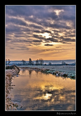 River Frome. (numanoid69) Tags: uk winter england ice sunrise reflections river dawn frost gloucestershire soe daybreak riverfrome whitminster platinumphoto nikond300
