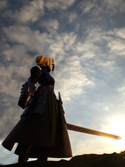 saber by sunset (tenchujin) Tags: saber wormseyeview kaiyodo fatestaynight explored fatehollowataraxia revoltechsaber altersaber