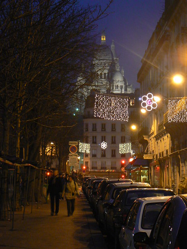 scene in montmartre, paris