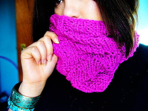 Chunky textured cowl by you.