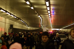 Sea of humanity in the 3rd Street Tunnel (marrngtn (Manuel)) Tags: street usa hope 50mm washington humanity pentax president tunnel before only pedestrians dcist tunel 2009 obama 3rd 50mmf14 inaugural 44th seaofhumanity seaofpeople inagural k10d presidentbarackobama barackhusseinobama barackobamainauguration inaugurationday2009 inauguralceremonies tunnelofdoomforticketholders presidentbarackobamainaugurationday2009