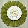 Fanned Expressions Baby Shower - Magnet Pin Or Sticker